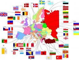 MAPPA E BANDIERE - EUROPA mages