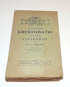 Livre ESPERANTO FUNDAMENTA KRESTOMATIO